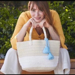 Altru Bags - Summer tote with optional blue tassel